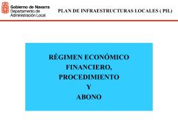 plan de infraestructuras locales ( pil) régimen económico
