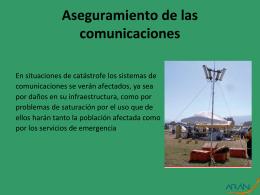 Aseguramiento de las comunicaciones