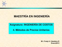 PR3ECIOS UNITARIOS - Facultad de Ingeniería Campus I