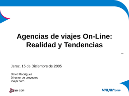 Agencias de viajes On-Line