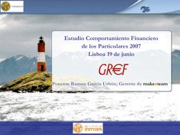 Estudio Comportamiento Financiero de los Particulares 2007