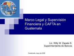 TLC-Marco Legal Supervision Financiera y Status