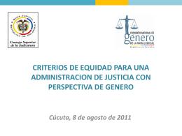 III. Criterios en relación con la decisión judicial