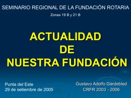 Actualidad de Nuestra Fundación