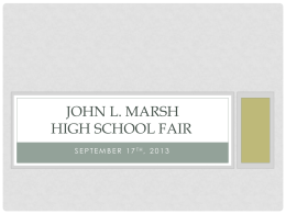 John L. Marsh High School Fair