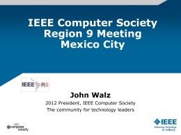 What`s New at the IEEE Computer Society