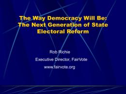 Instant runoff voting ballots