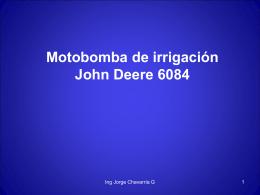 MOTOBOMBA JOHN DEERE 6084 Olmeca - Guatemala