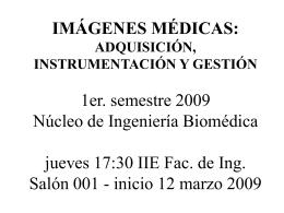 Imágenes Médicas 2009 - Núcleo de Ingeniería Biomédica