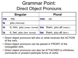 Grammar Point: Definite and indefinite articles