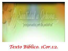 SANTIDAD A JEHOVÁ