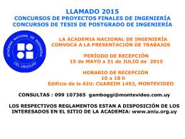 LLAMADO Concursos 2015