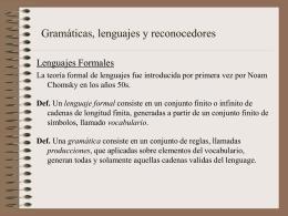 Relación con la teoría formal de Lenguajes