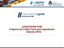 Material: Programa de Crédito Fiscal.