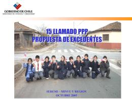 Excedentes PP 15 Minvu