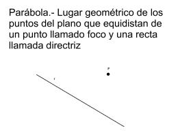 Parábola.- Lugar geométrico de los puntos del