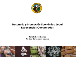 R HAURI Desarrollo Economico Local, Caso