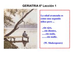 GERIATRÍA Y GERONTOLOGÍA CLÍNICA