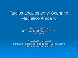 Radios Locales en el Scenario Mediático Africano