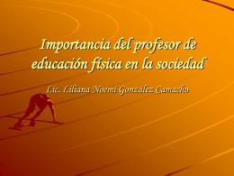 Importancia del profesor de educación física en la sociedad