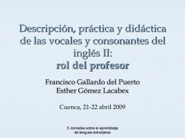 Rol del profesor - Centro de Profesores de Cuenca