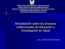 Objetivos - IMSS - Instituto Mexicano del Seguro Social