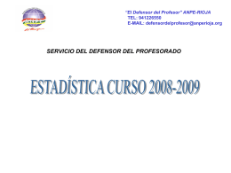 Informe Defensor del Profesor curso 2008-2009 - anpe