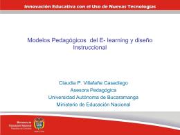 Modelos Pedagógicos del E- learning