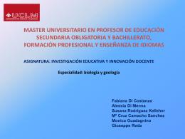 master universitario en profesor de educación secundaria