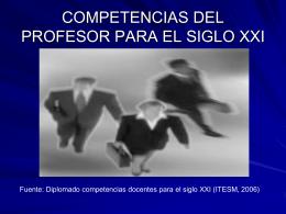 competencias del profesor para el siglo xxi