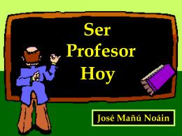 SER PROFESOR HOY