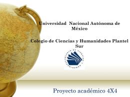 Proyecto Académico 4X4. Presentación - Programa 4x4