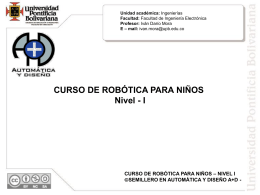 I CURSO DE ROBÓTICA PARA NIÑOS