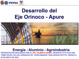 Desarrollo del Eje Orinoco-Apure: Energía - Aluminio