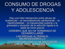 CONSUMO DE DROGAS Y ADOLESCENCIA