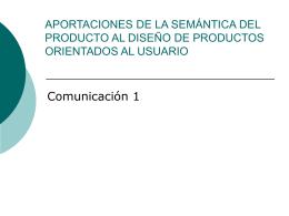 """Presentación """"Semántica del Objeto"""""""