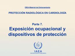 Exposición ocupacional y dispositivos de protección