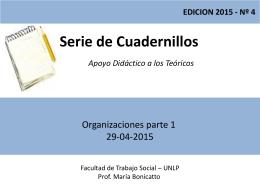 Teórico Nro. 4 Organizaciones-parte 1