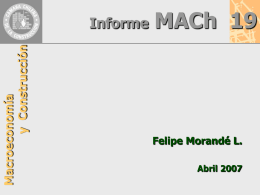 Presentación Mach N° 19 Felipe Morandé