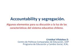 Accountability y segregación.
