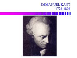 Introducción a la teoría política de Immanuel Kant
