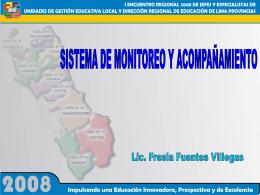 Monitoreo - Dirección Regional de Educación Lima Provincias