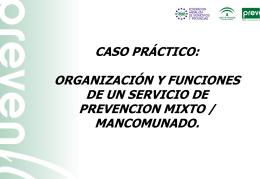 Caso práctico: organización y funcionamiento de un Servicio