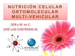 nutrición celular ortomolecular multi-vehicular