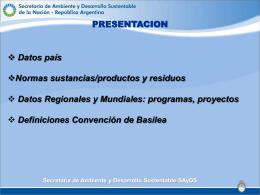 Lic. Alberto Capra - Secretaria de Ambiente y Desarrollo Sustentable