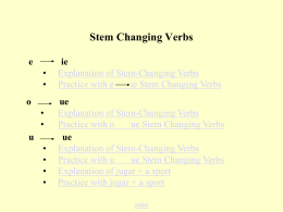 What are e>ie Stem Changing Verbs?