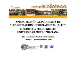 aproximación al programa de alfabetización informacional (alfin)