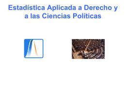 Estadística Aplicada a Derecho ya las Ciencias Políticas