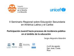 Participación Juvenil hacia procesos de incidencia pública en el