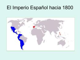 El Imperio Español hacia 1800